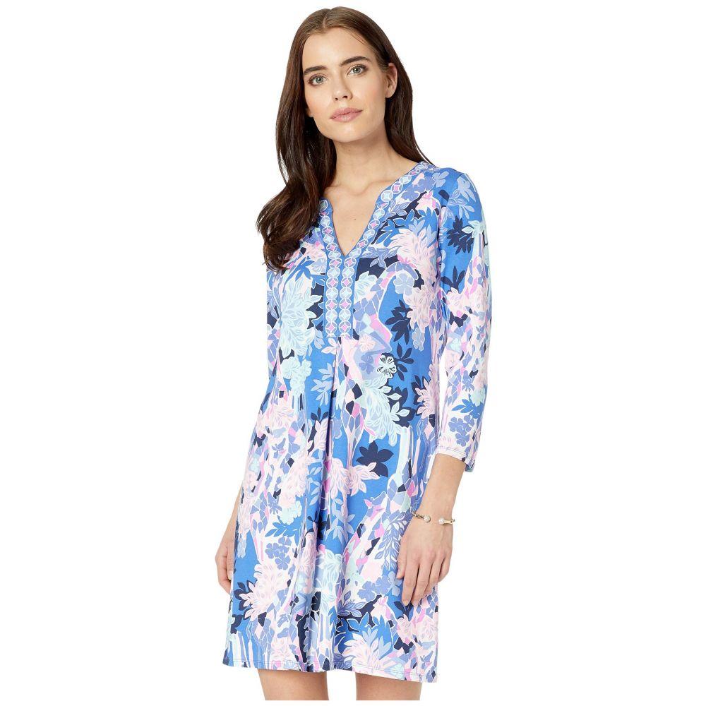 リリーピュリッツァー Lilly Pulitzer レディース ワンピース ワンピース・ドレス【Melli Dress】Iris Blue Giraffic Park