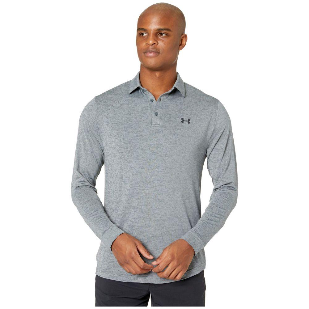 アンダーアーマー Under Armour Golf メンズ ポロシャツ トップス【Long Sleeve Playoff 2.0 Polo】Pitch Gray/Black