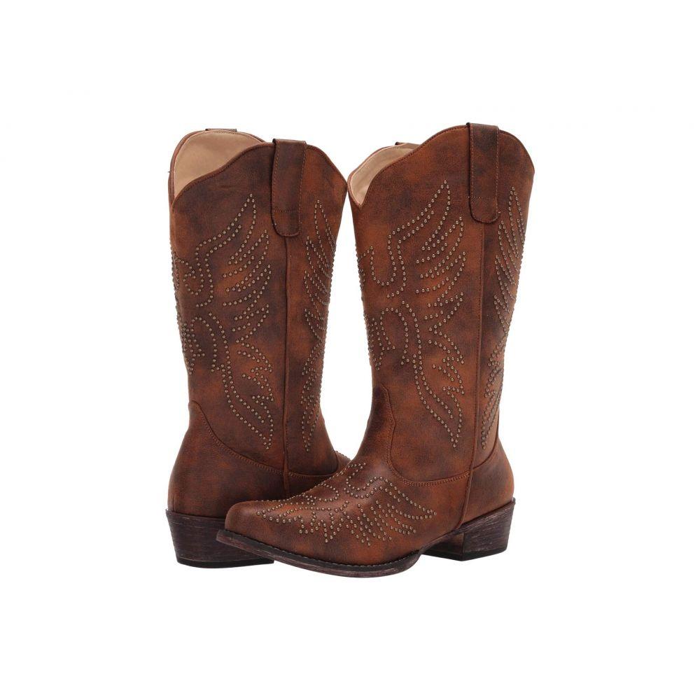 ローパー Roper レディース ブーツ シューズ・靴【Eaglets】Brown Faux Leather