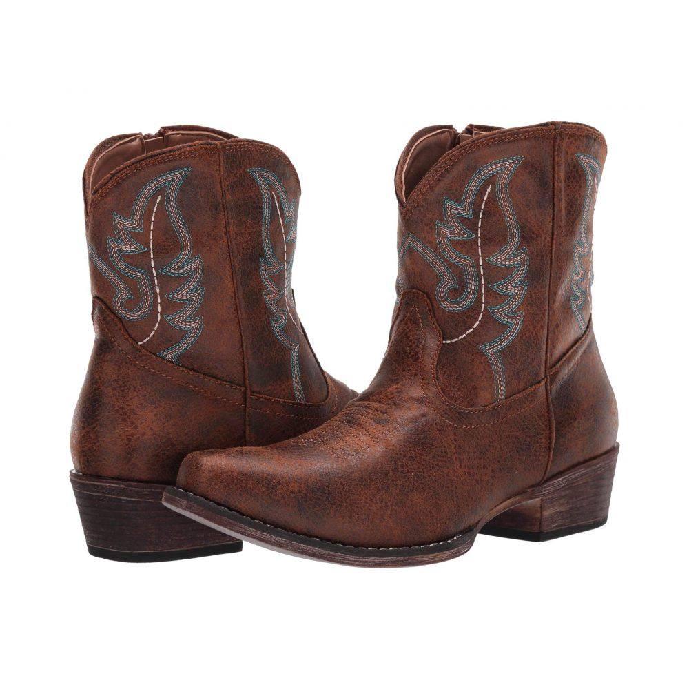 ローパー Roper レディース ブーツ シューズ・靴【Shay】Cognac Faux Leather