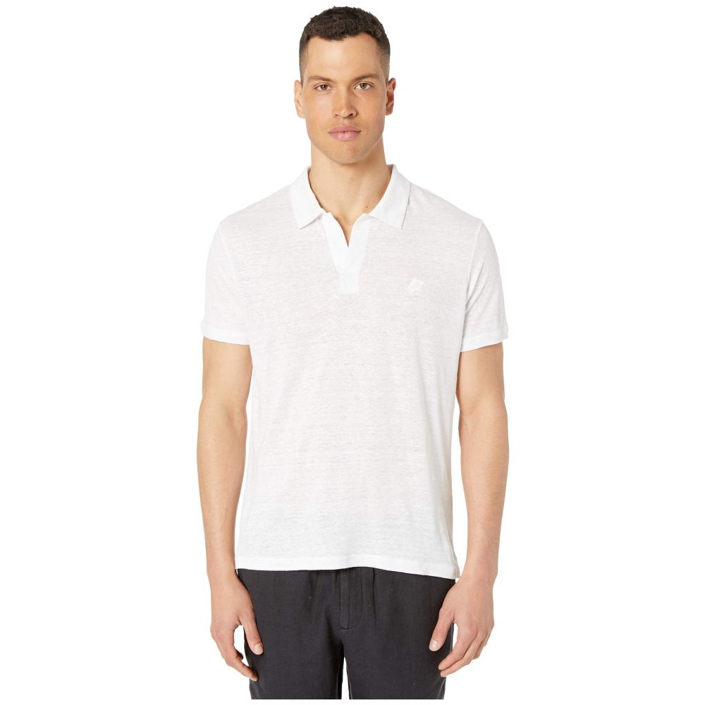 ヴィルブレクイン Vilebrequin メンズ ポロシャツ トップス【Solid Linen Jersey Polo】White
