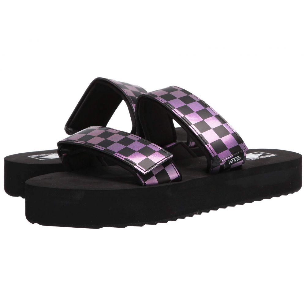 ヴァンズ Vans レディース サンダル・ミュール シューズ・靴【Cayucas Slide Mega Platform】Checker/Black