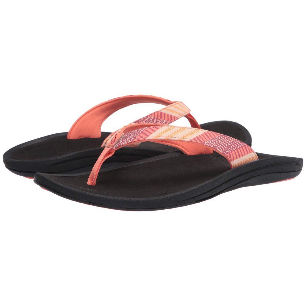 オルカイ OluKai レディース ビーチサンダル シューズ・靴【Kulapa Kai】Fusion Coral/Kapa Stripe