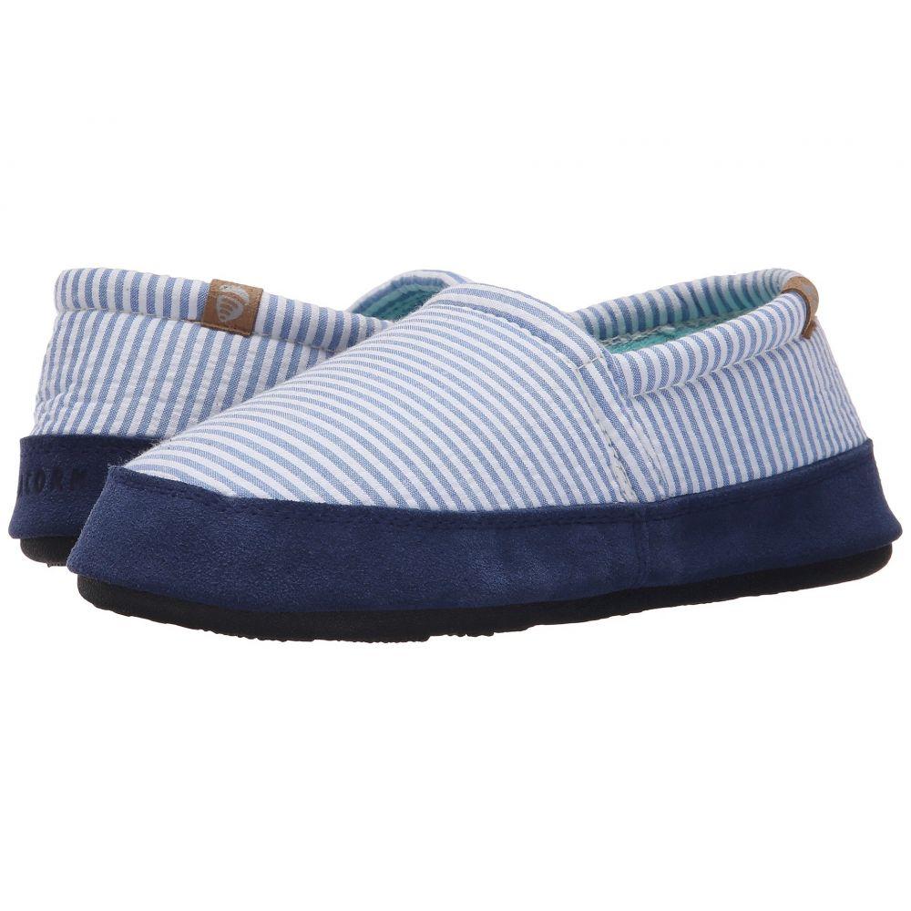 エーコーン Acorn レディース スリッパ シューズ・靴【Moc Summerweight】Blue Stripe