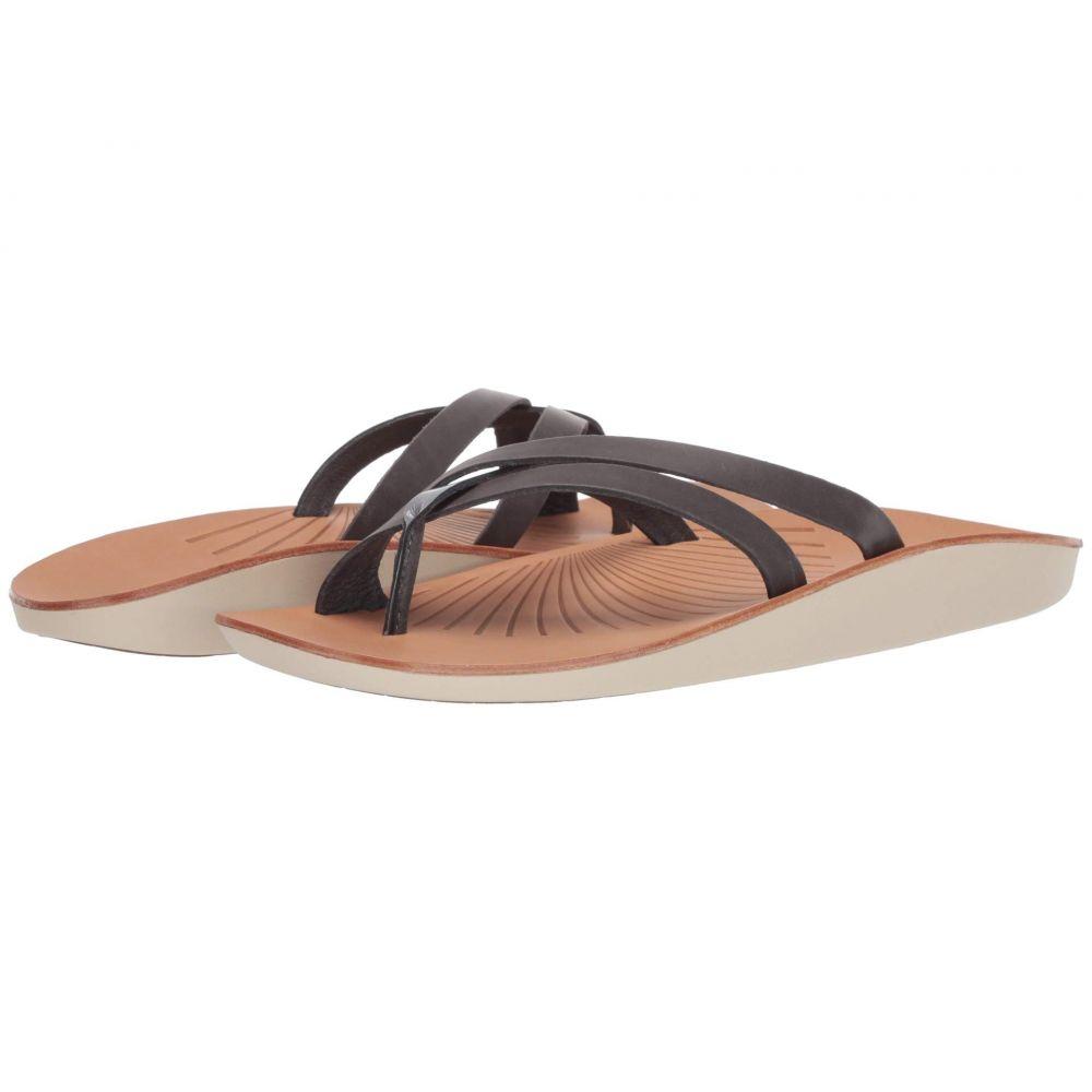 オルカイ OluKai レディース ビーチサンダル シューズ・靴【Kaha】Charcoal/Poi
