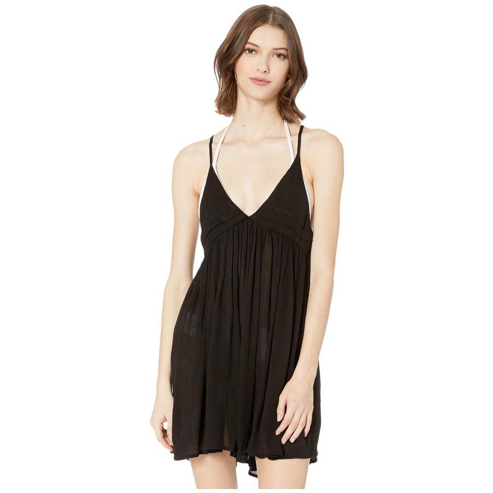 オニール O'Neill レディース ビーチウェア タンクドレス タンクトップ ワンピース・ドレス 水着・ビーチウェア【Saltwater Solids Tank Dress Cover-Up】Black