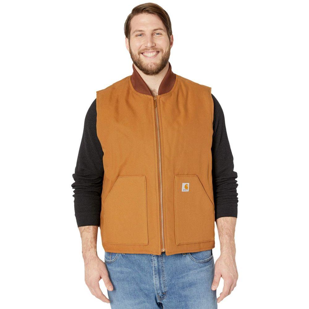 カーハート Carhartt メンズ ベスト・ジレ 大きいサイズ トップス【Big & Tall Duck Arctic Vest】Carhartt Brown