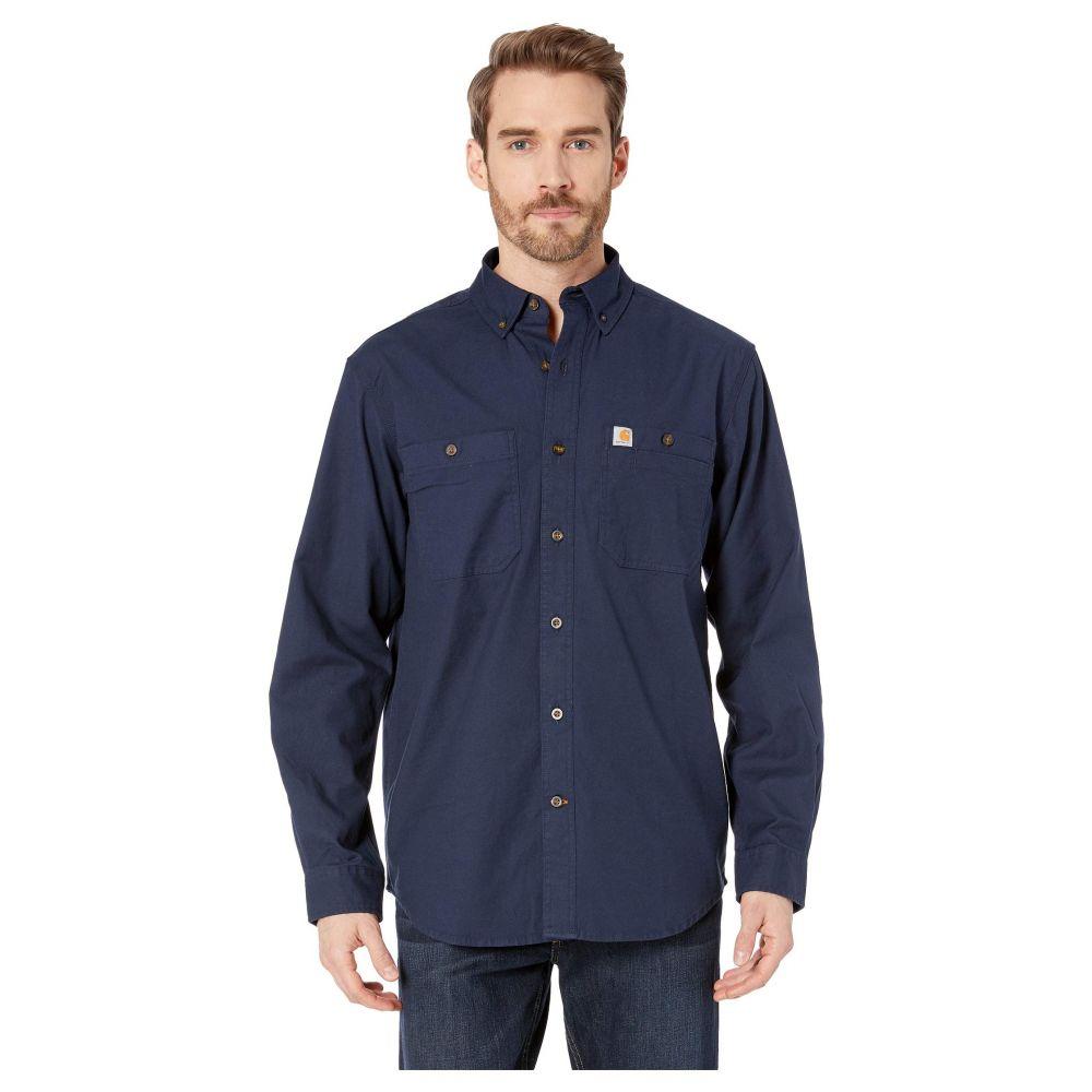カーハート Carhartt メンズ シャツ トップス【Rugged Flex Rigby Long Sleeve Work Shirt】Navy