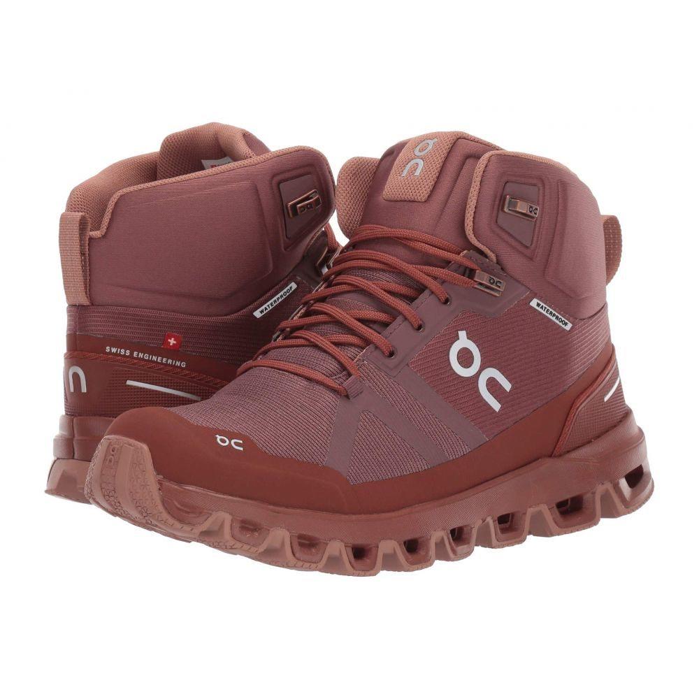 オン On レディース ハイキング・登山 シューズ・靴【Cloudrock Waterproof】Grape/Hazel