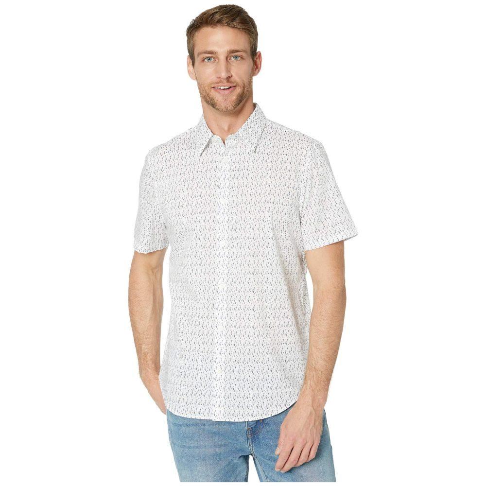 カルバンクライン Calvin Klein メンズ 半袖シャツ トップス【The Stretch Cotton Short Sleeve Woven Shirt】Brilliant White