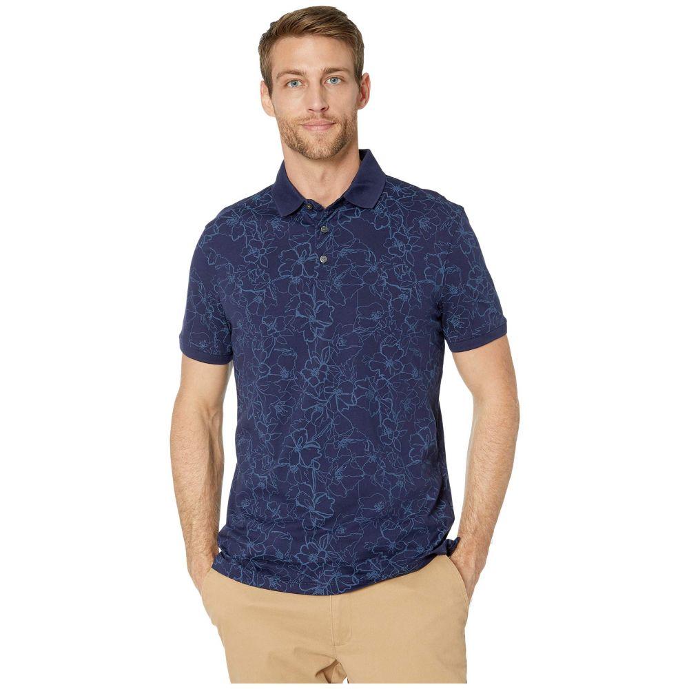 カルバンクライン Calvin Klein メンズ ポロシャツ トップス【Short Sleeve All Over Floral Print】Maritime Blue Combo