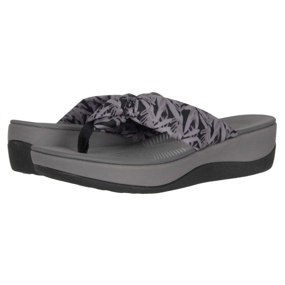 クラークス Clarks レディース サンダル・ミュール シューズ・靴【Arla Glison】Black/Grey Floral Textile