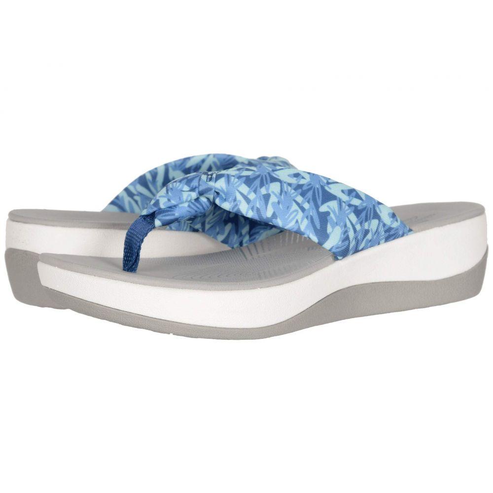 クラークス Clarks レディース サンダル・ミュール シューズ・靴【Arla Glison】Blue/Mint Floral Textile