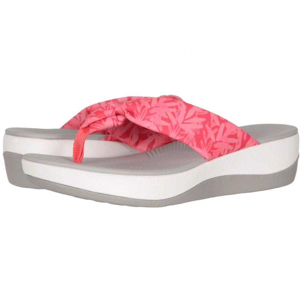 クラークス Clarks レディース サンダル・ミュール シューズ・靴【Arla Glison】Berry Pink Floral Textile