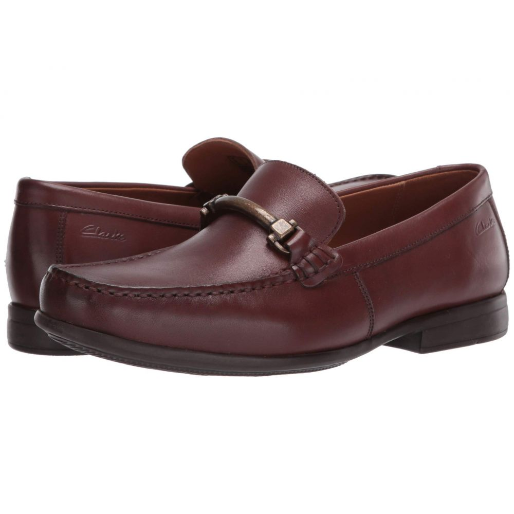 クラークス Clarks メンズ ローファー シューズ・靴【Claude Stride】Mahogany Leather