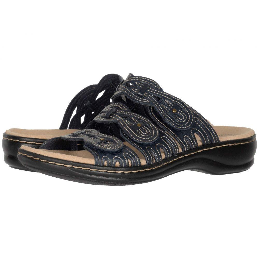 クラークス Clarks レディース サンダル・ミュール シューズ・靴【Leisa Faye】Navy Leather