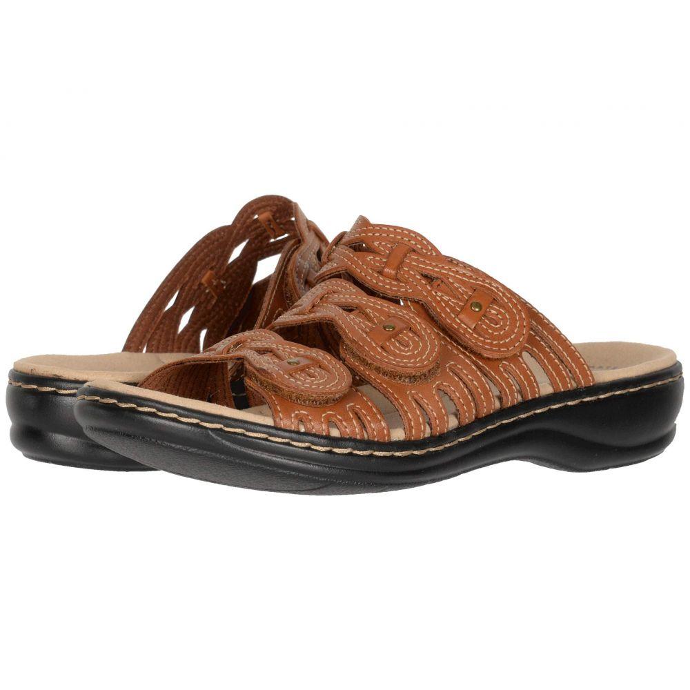 クラークス Clarks レディース サンダル・ミュール シューズ・靴【Leisa Faye】Tan Leather