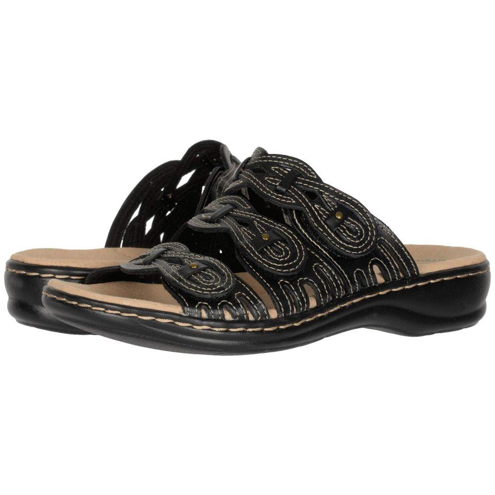 クラークス Clarks レディース サンダル・ミュール シューズ・靴【Leisa Faye】Black Leather