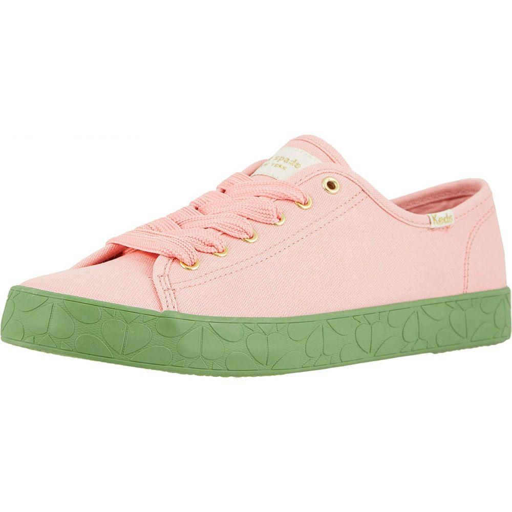 ケイト スペード Keds x kate spade new york レディース スニーカー シューズ・靴【Kickstart Logo Foxing】Pink/Green Canvas