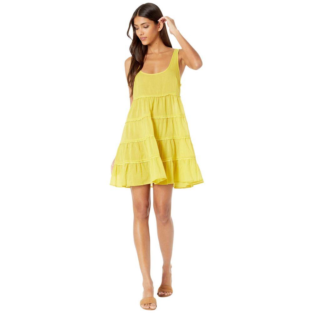 ケイト スペード Kate Spade New York レディース ビーチウェア ティアードドレス 水着・ビーチウェア【Solids Tiered Cover-Up Dress】Lemon Cake
