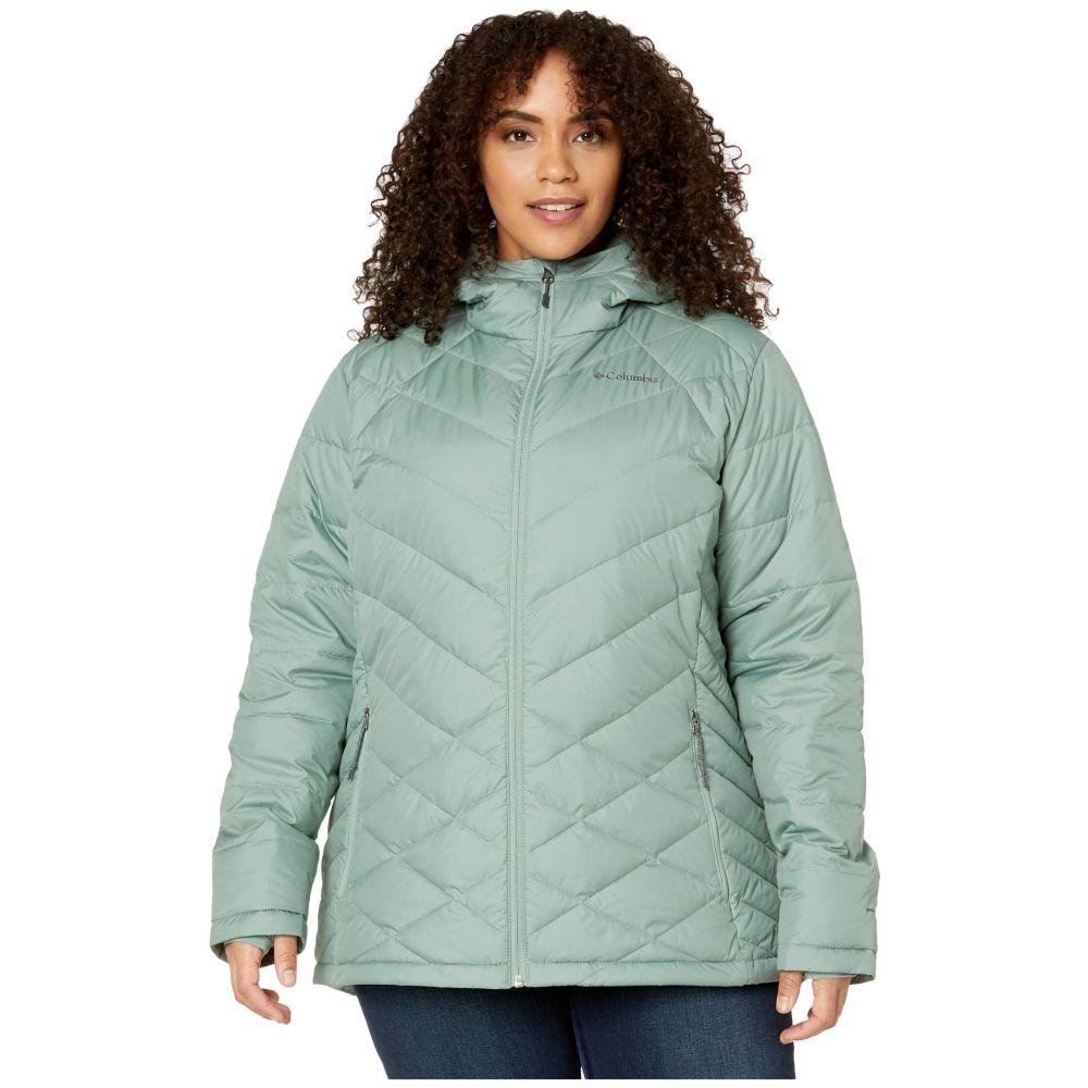 コロンビア Columbia レディース ダウン・中綿ジャケット フード 大きいサイズ アウター【Plus Size Heavenly Hooded Jacket】Light Lichen