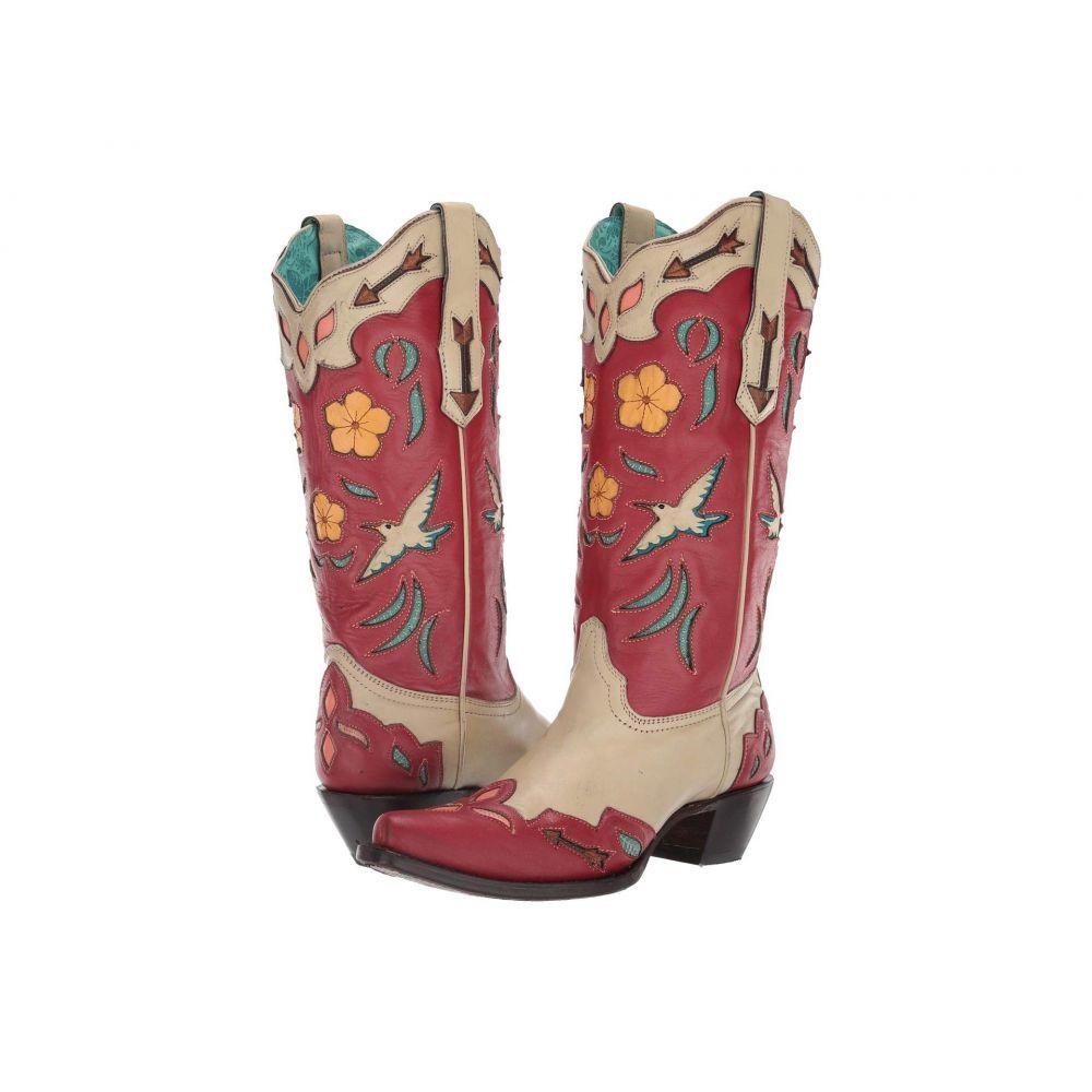コラル Corral Boots レディース ブーツ シューズ・靴【A3780】Bone/Red