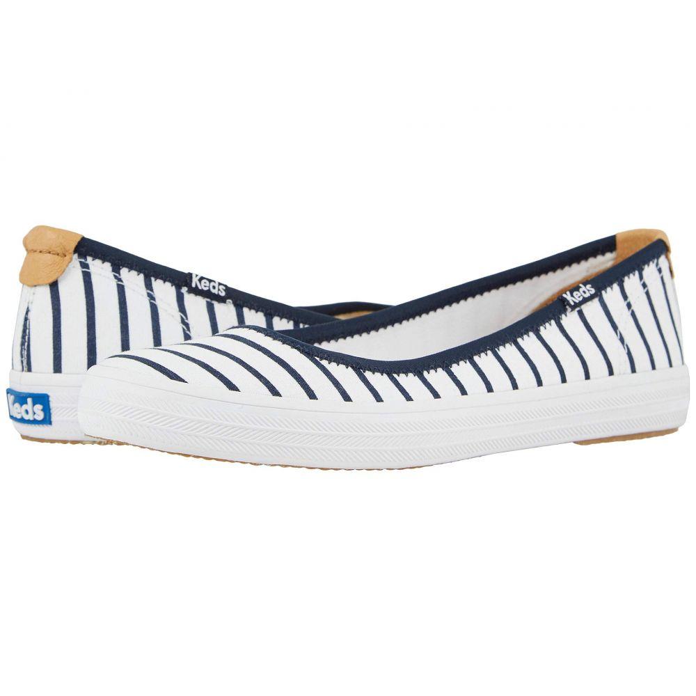 ケッズ Keds レディース スニーカー シューズ・靴【Bryn Seasonal Solids】White/Navy