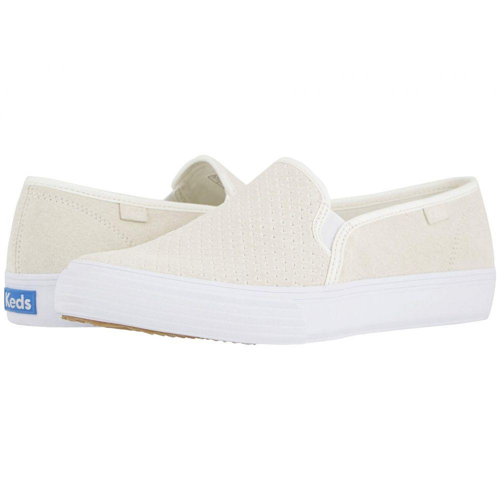 ケッズ Keds レディース スニーカー シューズ・靴【Double Decker Perf Suede】White