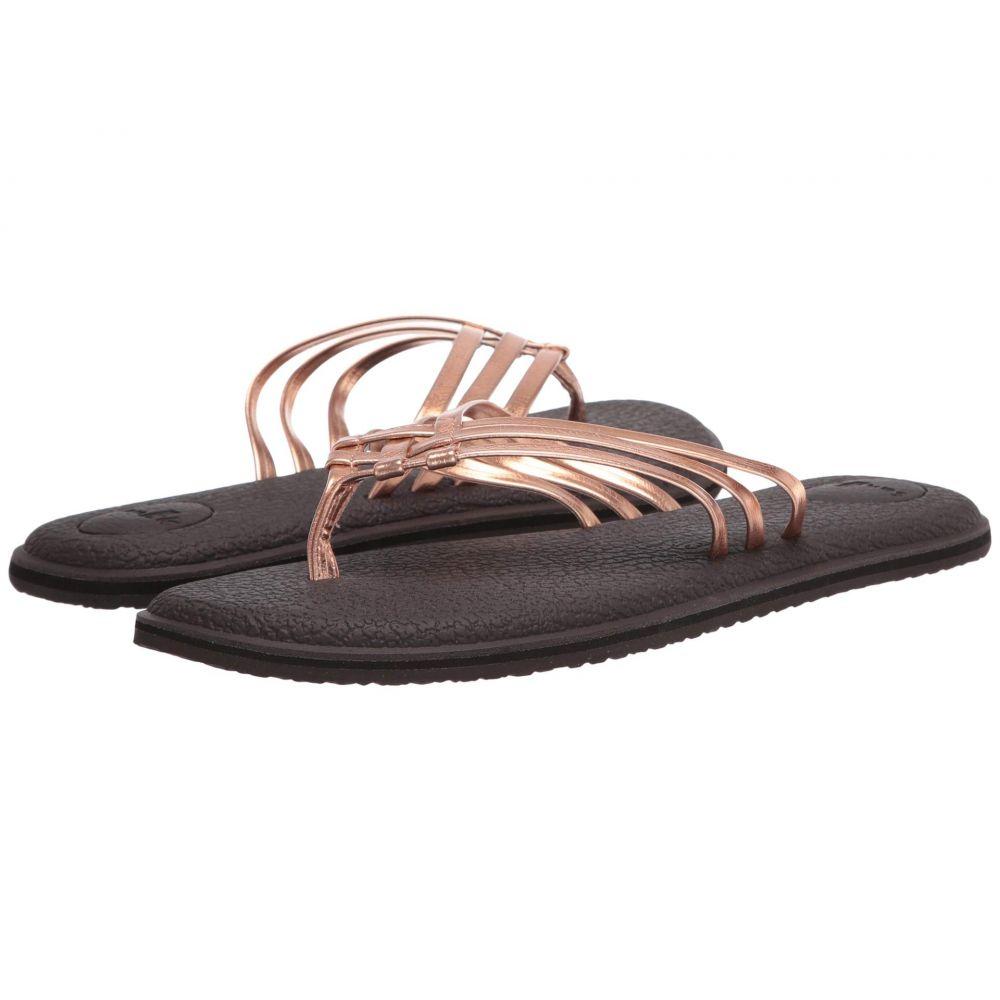 サヌーク Sanuk レディース ビーチサンダル シューズ・靴【Yoga Salty Metallic】Copper