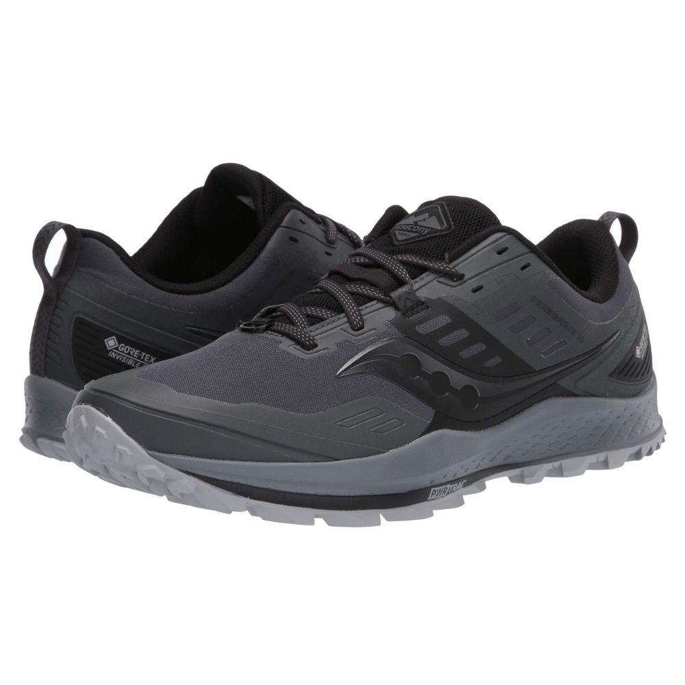 サッカニー Saucony メンズ ランニング・ウォーキング シューズ・靴【Peregrine 10 GTX】Grey/Black