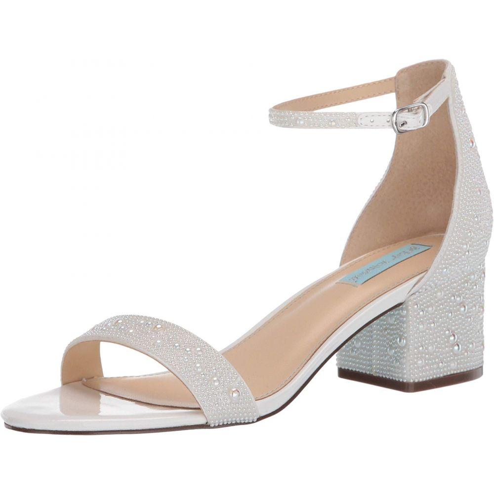 ベッツィ ジョンソン Blue by Betsey Johnson レディース サンダル・ミュール シューズ・靴 Mari Heeled Sandal WhiteLc54jq3AR