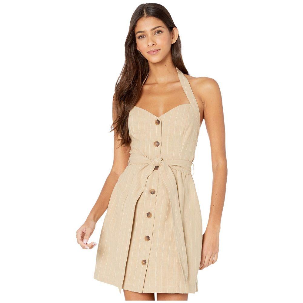 ロストアンドワンダー LOST + WANDER レディース ワンピース サンドレス ワンピース・ドレス【Sun Tan Mini Dress】Tan/White