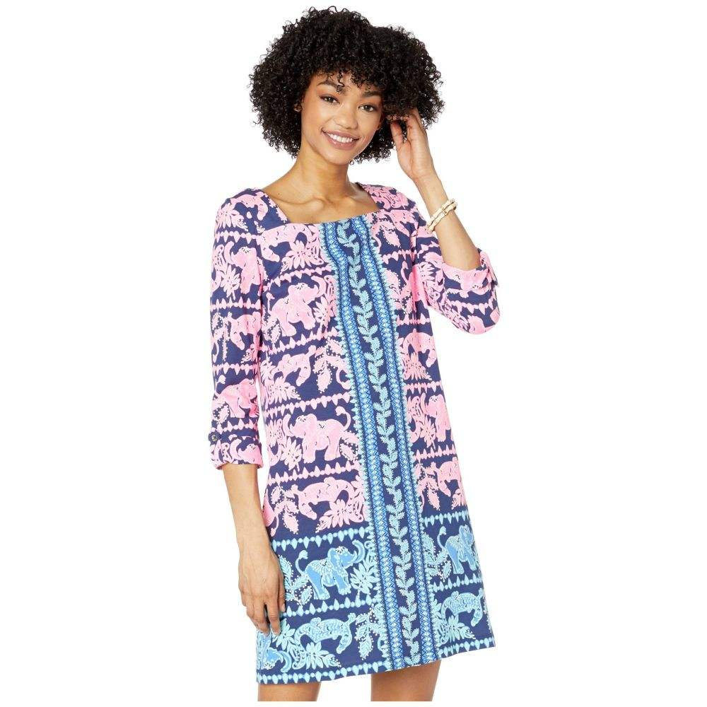 リリーピュリッツァー Lilly Pulitzer レディース ワンピース ワンピース・ドレス【Bailee Dress】High Tide Navy Perfect Pair Engineered Knit