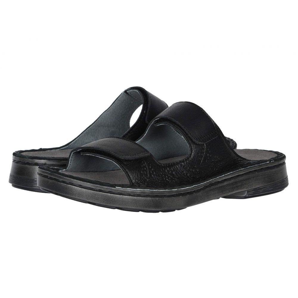 ナオト Naot レディース サンダル・ミュール シューズ・靴【Trancoso】Soft Black Leather/Glass Silver