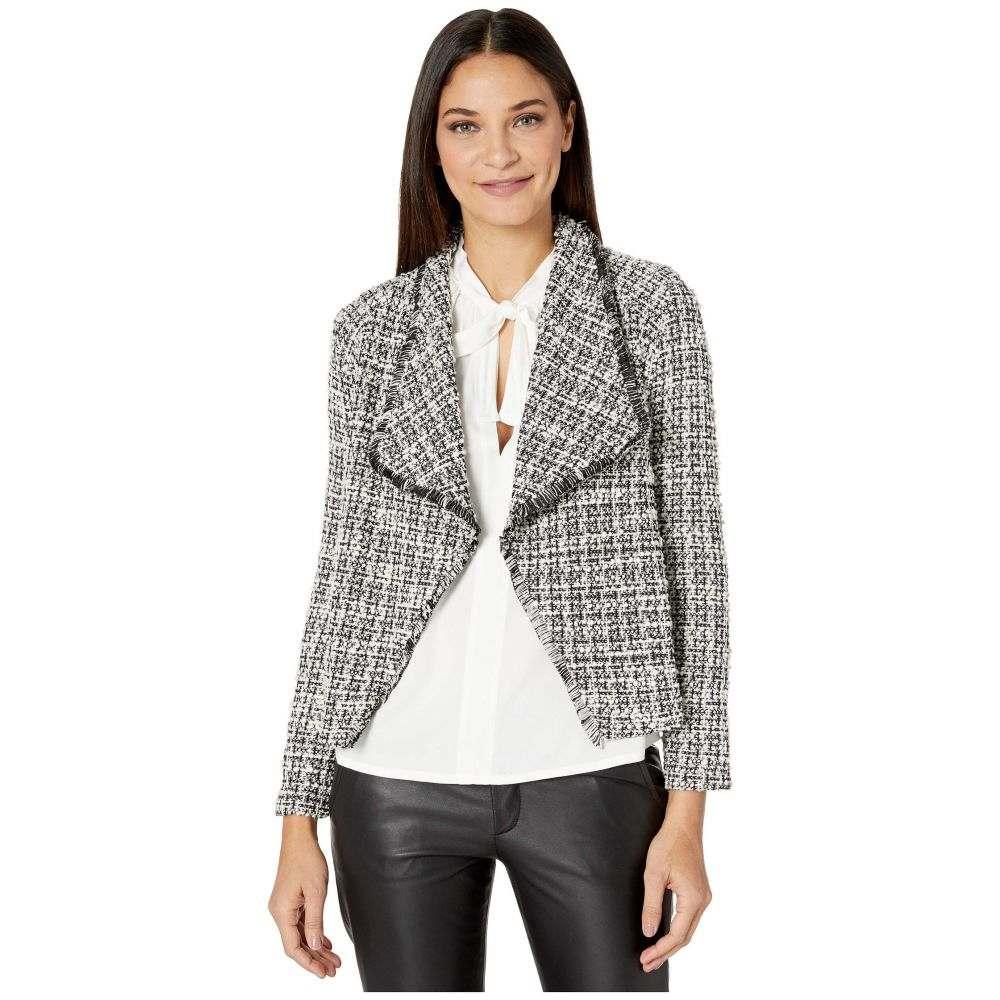 ビービーダコタ BB Dakota レディース スーツ・ジャケット アウター【Seeing Things Knit Tweed Drape Front Jacket】Black