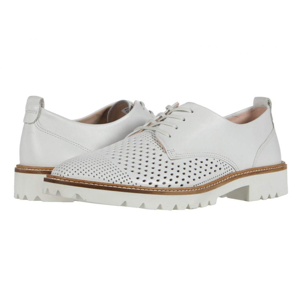 エコー ECCO レディース ローファー・オックスフォード シューズ・靴【Incise Tailored Perf Tie】Bright White Cow Leather