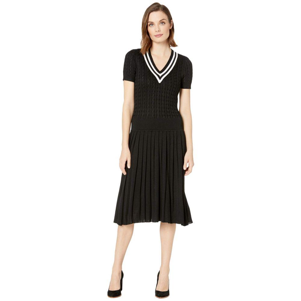 ラルフ ローレン LAUREN Ralph Lauren レディース ワンピース ワンピース・ドレス【Pleated Cable-Knit Dress】Polo Black/Mascarpone Cream