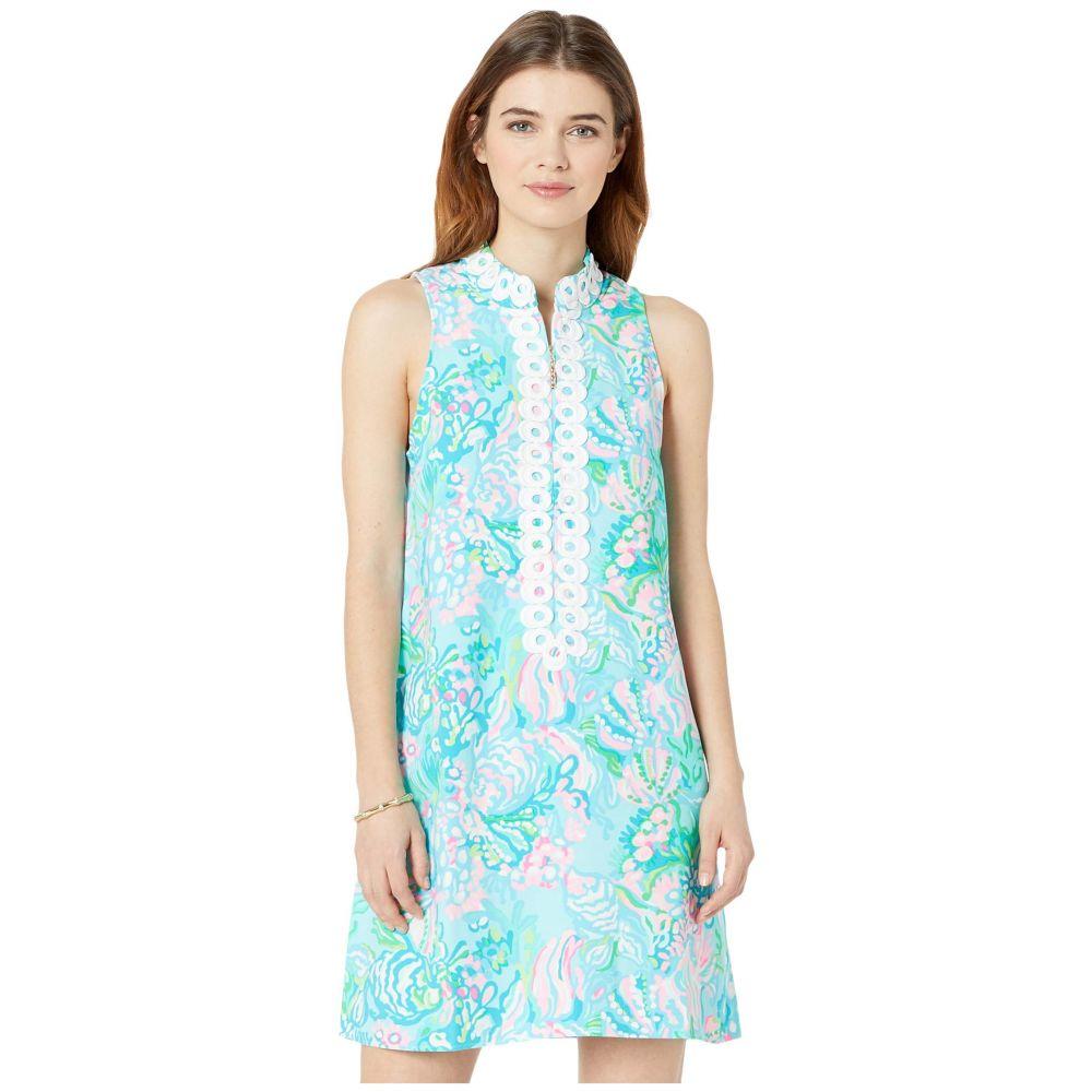リリーピュリッツァー Lilly Pulitzer レディース ワンピース シフトドレス ワンピース・ドレス【Jane Shift Dress】Blue Ibiza Aqua La Vista