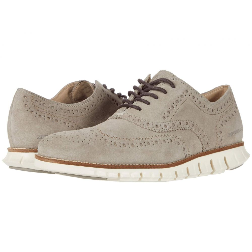 コールハーン Cole Haan メンズ 革靴・ビジネスシューズ ウイングチップ シューズ・靴【Zerogrand Wing Tip Oxford】Gray Suede/Ivory
