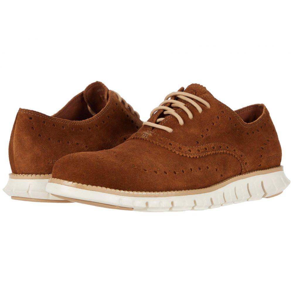 コールハーン Cole Haan メンズ 革靴・ビジネスシューズ ウイングチップ シューズ・靴【Zerogrand Wing Tip Oxford】Bourbon Suede/Ivory