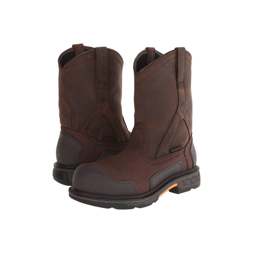 アリアト Ariat メンズ ブーツ シューズ・靴【Overdrive XTR Pullon H20】Brown Cordura/Oily Distressed Brown