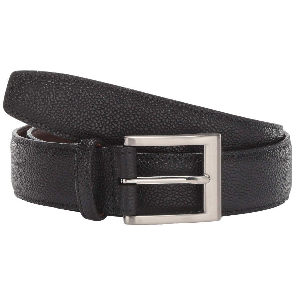 トリノレザー Torino Leather Co. メンズ ベルト 【35 mm Italian Basketball Grain Embossed Calf】Black