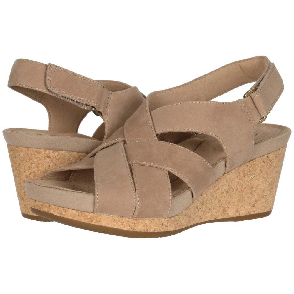 クラークス Clarks レディース ヒール シューズ・靴【Un Capri Step】Sand Nubuck