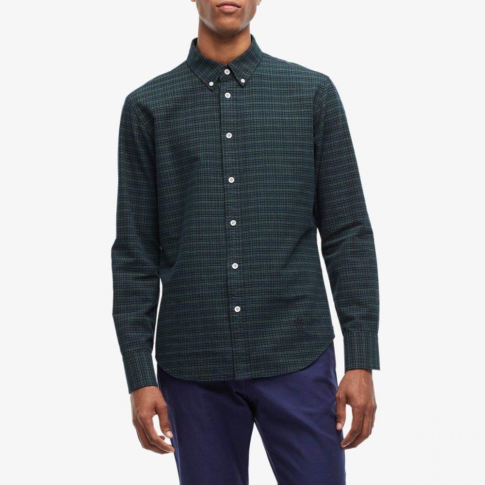 ラグ&ボーン rag & bone メンズ シャツ トップス【Fit 2 Tomlin Oxford Shirt】Black/Green