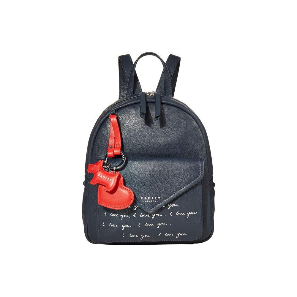 ラドリー ロンドン Radley London レディース バックパック・リュック バッグ【I Love You - Small Zip Around Backpack】Ink