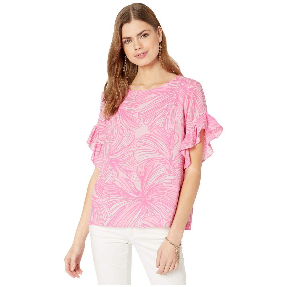 リリーピュリッツァー Lilly Pulitzer レディース ブラウス・シャツ トップス【Darlah Top】Prosecco Pink Fronds Place
