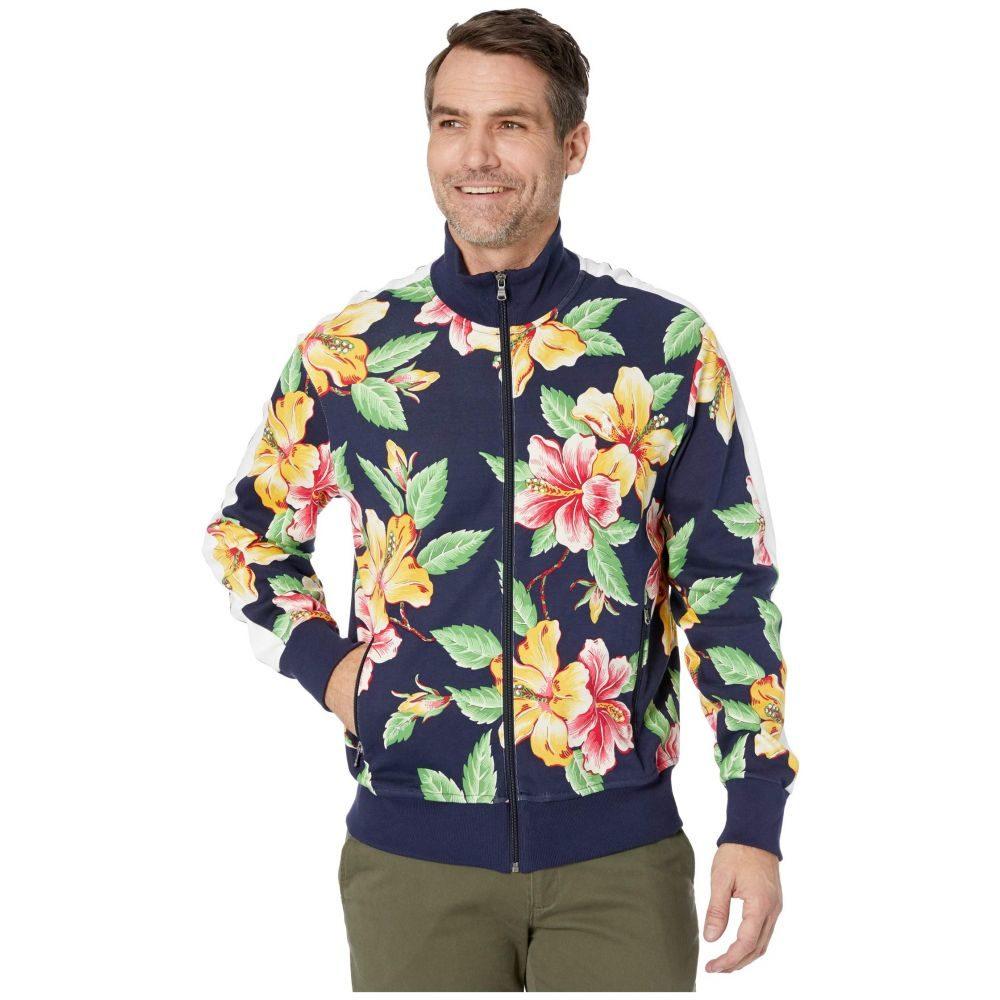 ラルフ ローレン Polo Ralph Lauren メンズ ジャージ アウター【Vintage Hibiscus Interlock Track Jacket】Vintage Hibiscus Navy