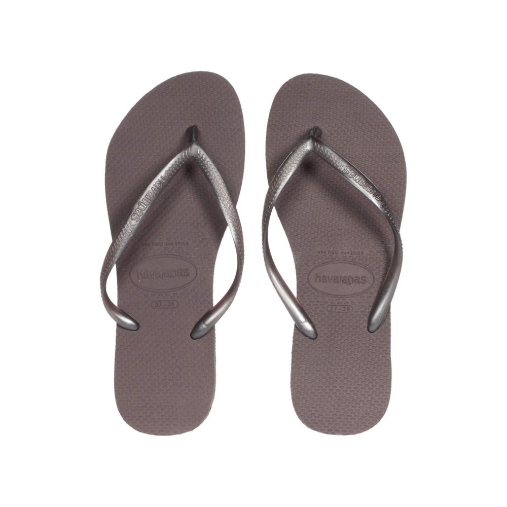 ハワイアナス Havaianas レディース ビーチサンダル シューズ・靴【Slim Flip Flops】Lilac Announce