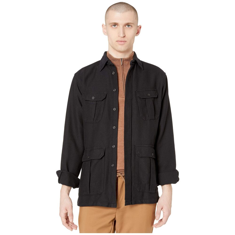 イートン Eton メンズ シャツ シャツジャケット トップス【Pocket Shirt Jacket】Black