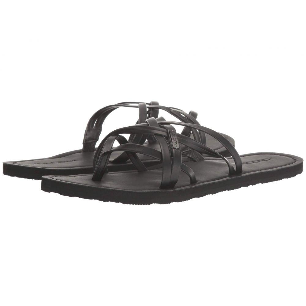 ボルコム Volcom レディース ビーチサンダル シューズ・靴【Strap Happy Sandals】Black Out